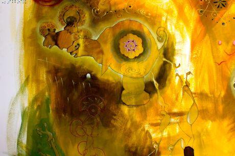 "BAcco Artolini- detail: the wall "" Creation and Compulsion"" Lisbon 2015 TingsLisbon"