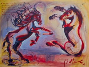 """""""Il Sogno guarda il proprio sognatore"""" Acrylic on canvas 180x100 (600)"""