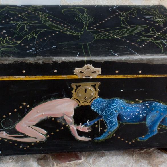 Acrylic on trunk