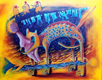 Bacco Artolini-L'umanità stende i panni tra l'ego e le sue paure
