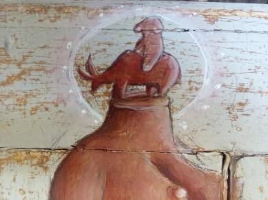 "A kind of ""paleolitical horsewoman( amazzone)"".."