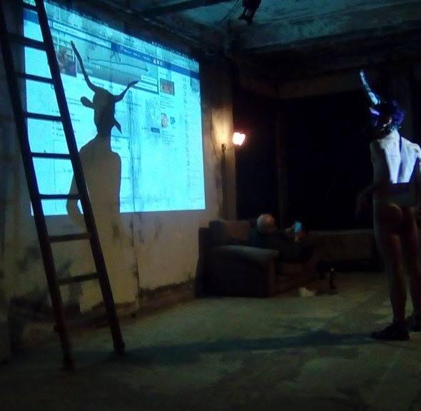 Onico Giannetta Ravenna 2017 performance art Spartaco