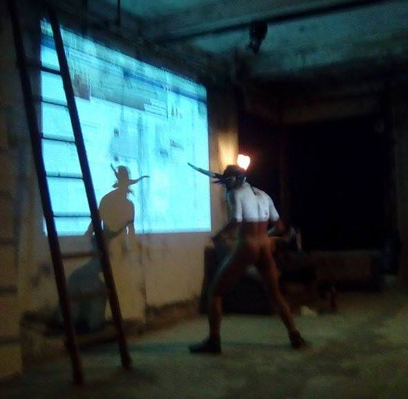 Onico Giannetta Performance Ravenna 2017 art Spartaco