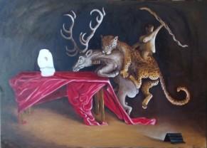 Bacco Artolini dipinto olio 2