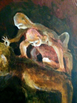 painting detail Bacco Artolini Berlin