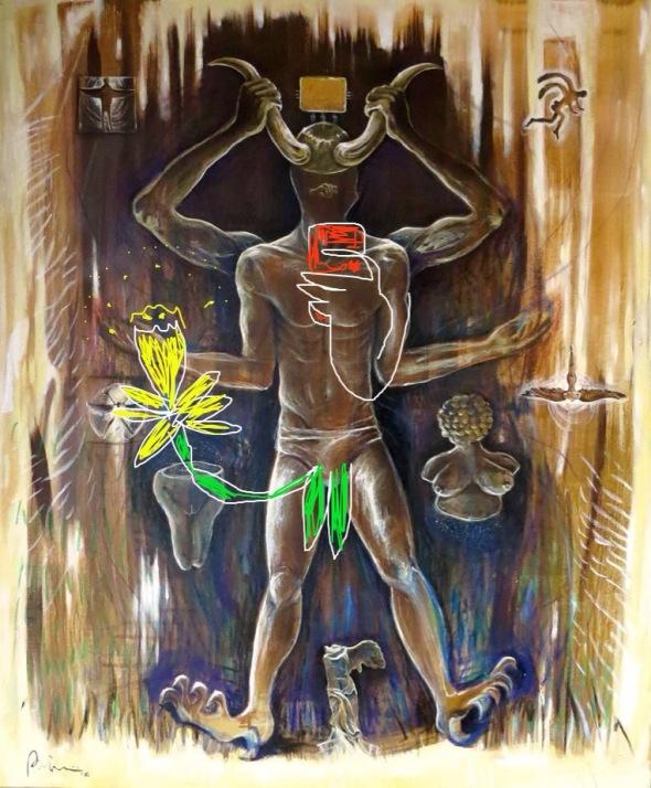 """painting. Bacco Artolini """"La velocità del Buio"""" 2016"""