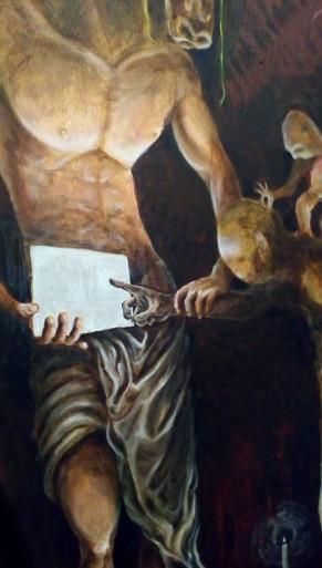dettaglio dipinto bacco artolini Caravaggio