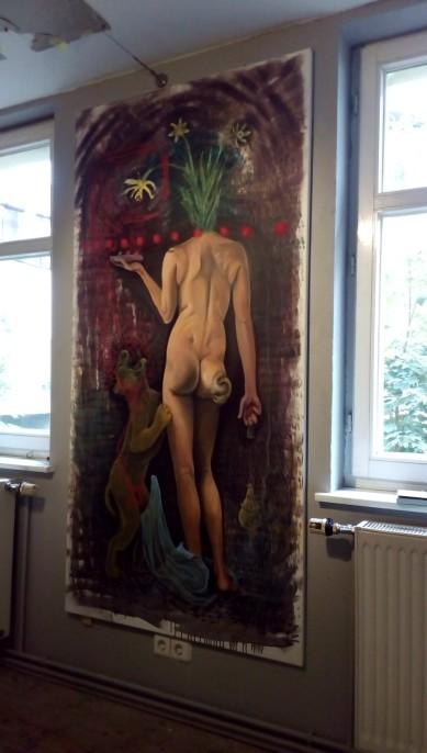 Bacco Artolini painting 1 intitut fur alles mogliche Berlin