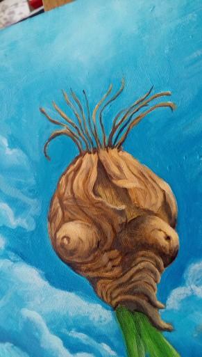 Bacco Artolini Dipinto olio 4 detail