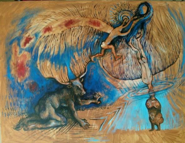 Oil painting Bacco Artolini