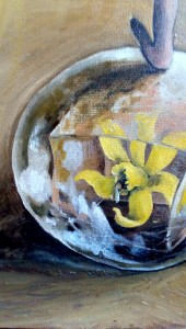 dettaglio dipinto ad olio