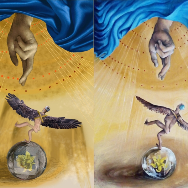 dipinto olio- dipinto digitale- confronto