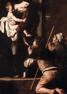 Caravaggio, La Madonna dei Pellegrini, (1604-1606)