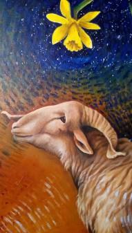 Bacco Artolini Arte dettaglio 2 dipinto olio Ravenna 2018