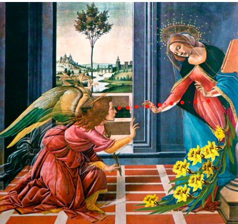Sandro Botticelli annunciazione dipinto intervento Bacco Artolini