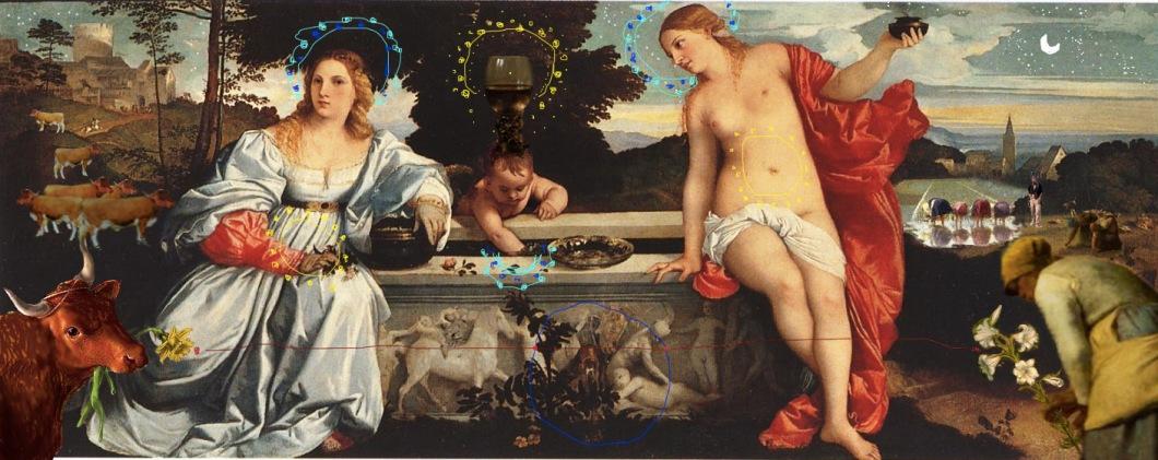 remix .Tiziano- Amor sacro e Amor profano (1515)