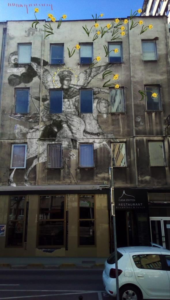 Bacco Artolini street art Sarajevo branilaca sarajeva