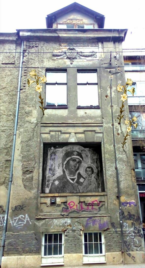 Bacco Artolini street art in Sarajevo