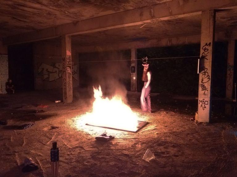 Bacco Artolini Nina Zubanovic performance painting destroyed art Sarajevo