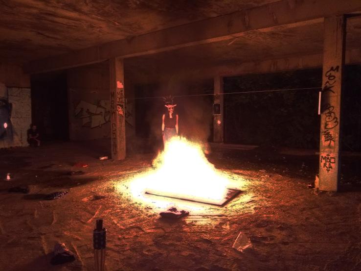 Bacco Artolini Nina Zubanovic performance painting burned art Sarajevo
