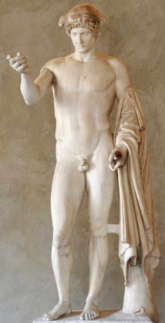 Hermes Logios - copia marmorea romana di originale greco del 5° sec ac ( forse Fidia)