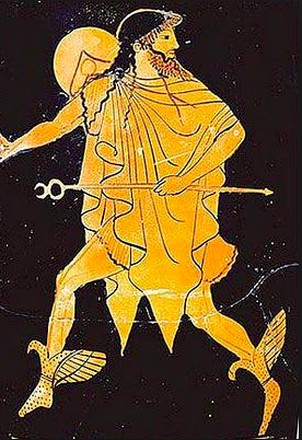 Hermes- rappresentazione su vaso