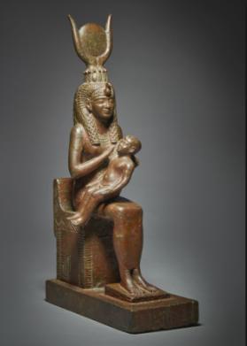 figura in bronzo Isis con Horus- 664-525 ac