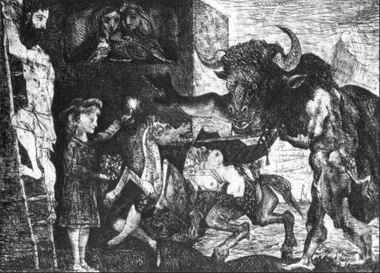 Minotauromachia- Picasso (1935)