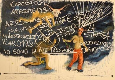 Ravenna art dipinto performance Bacco Artolini Onico