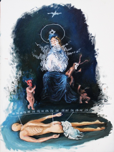 Bacco Artolini painting Madonna oil street art