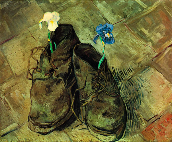 fiori Van Gogh- un paio di scarpe ( 1888 circa)