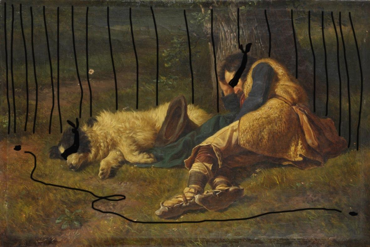 Palizzi Filippo- pastore con cane (1850 circa)