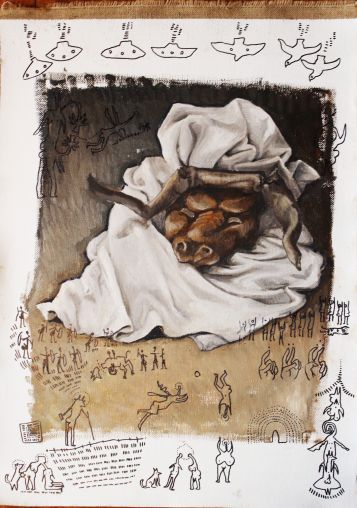 Bacco Artolini artist Ravenna 2019 painting dipinto