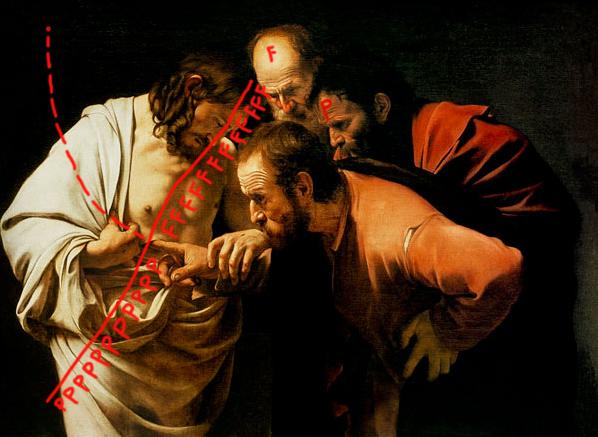 remix 2 caravaggio- san tommaso ( 1601) copy