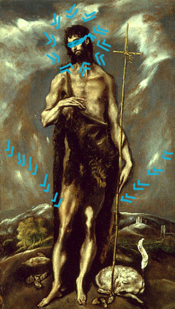 visualized remix el greco-san giovanni battista (1600-1605) copy