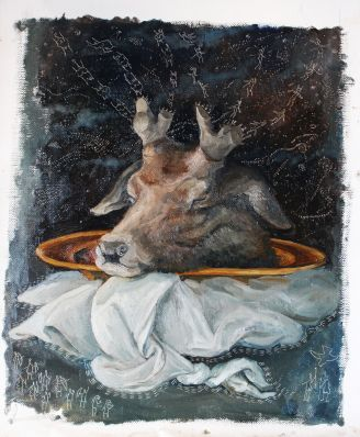 oil painting Bacco Artolini dipinto Ravenna artist