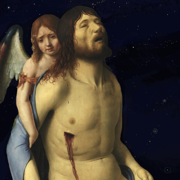 Bacco Artolini intervention on artist Antonello da Messina Cristo 1476